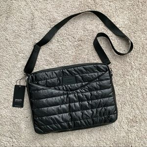 NWT Peach Brand Black Quilted Laptop Bag